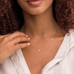 Jennifer Zeuner Gold Double Star Necklace